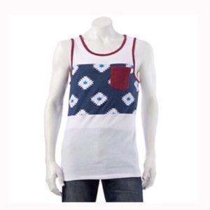 Printed panel tee shirt